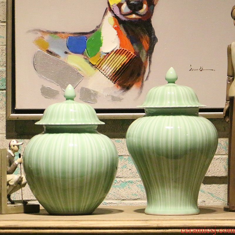 American country general pea green color ceramic pot of new Chinese style household decorate the table sitting room place flower arranging flowers