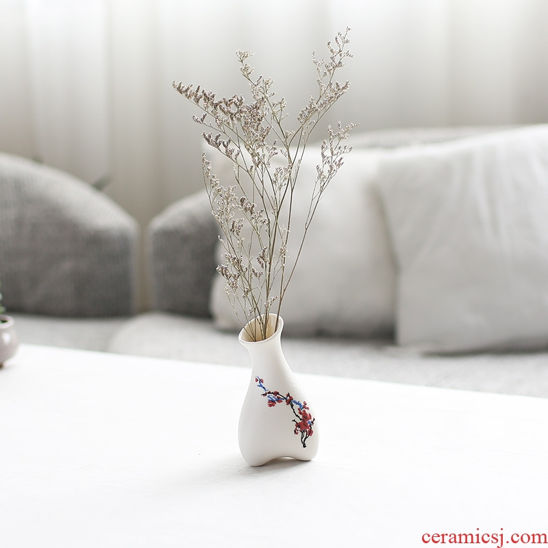 Nan sheng I and contracted mini ceramic vase simulation flowers, dried flowers, household act the role ofing is tasted furnishing articles mesa of flower arrangement