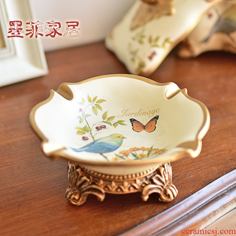 European ceramic ashtray American country creative move furnishing articles home sitting room adornment seeds, fruit dish of small fruit bowl