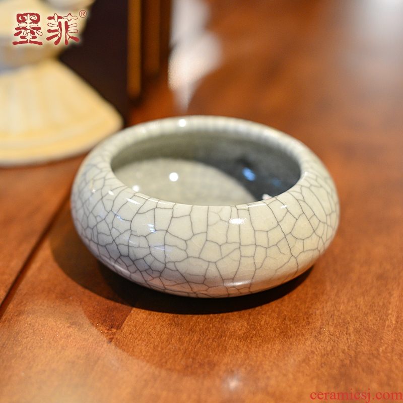 New Chinese style creative furnishing articles longquan crack prevention of fly ash ceramic ashtray ashtray sitting room tea table decorations