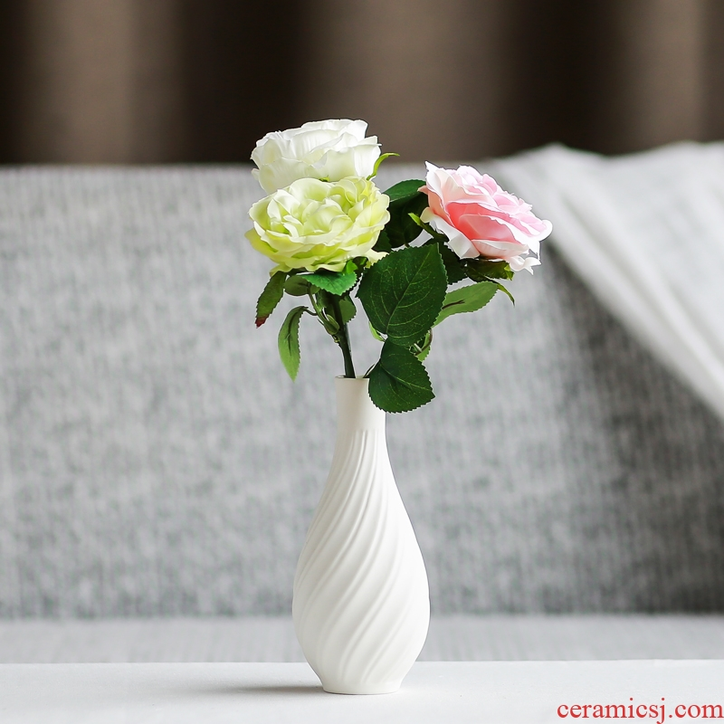 South sheng household act the role ofing is tasted simulation flower, dried flower, flower implement floret bottle mesa place ceramics handicraft ornament