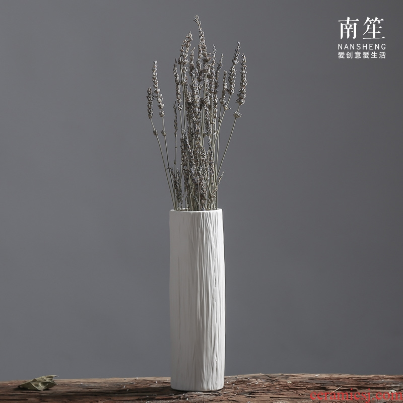 Nan sheng household act the role ofing is tasted all over the sky star money plant simulation white ceramic vase mesa place flower arranging flowers