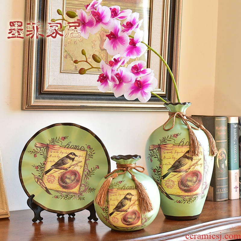 American TV ark, wine accessories furnishing articles ceramic vase continental the sitting room porch home decoration interior decoration