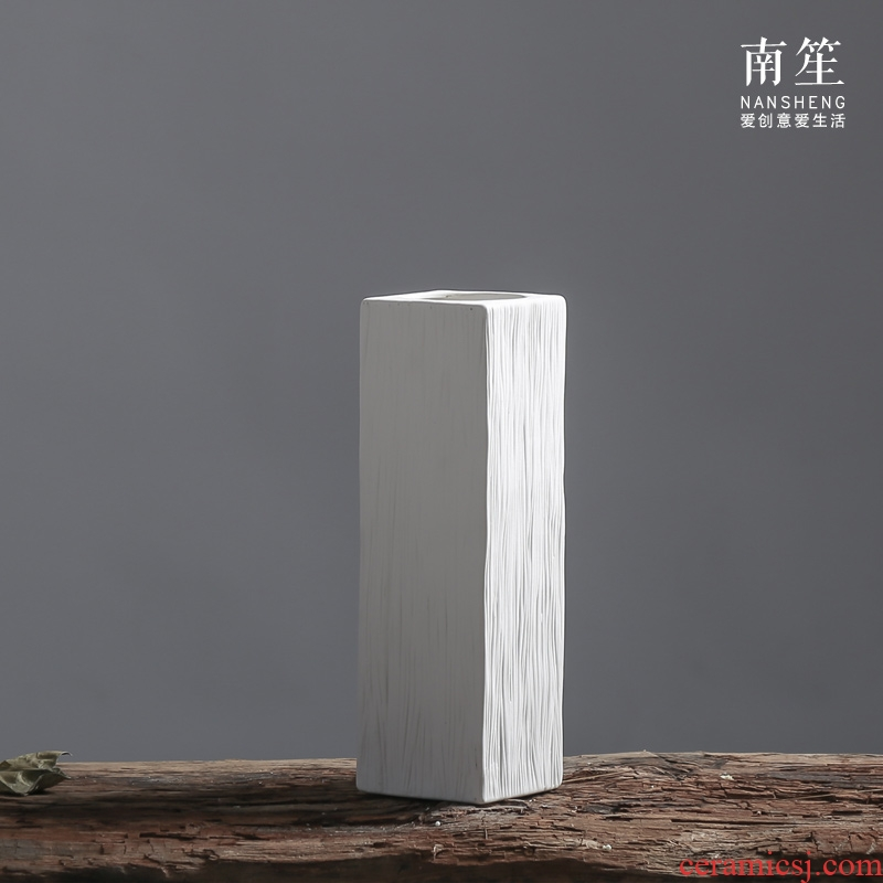Nan sheng I and contracted white household act the role ofing is tasted simulation dried flowers, artificial flowers, ceramic vases, flower implement mesa furnishing articles