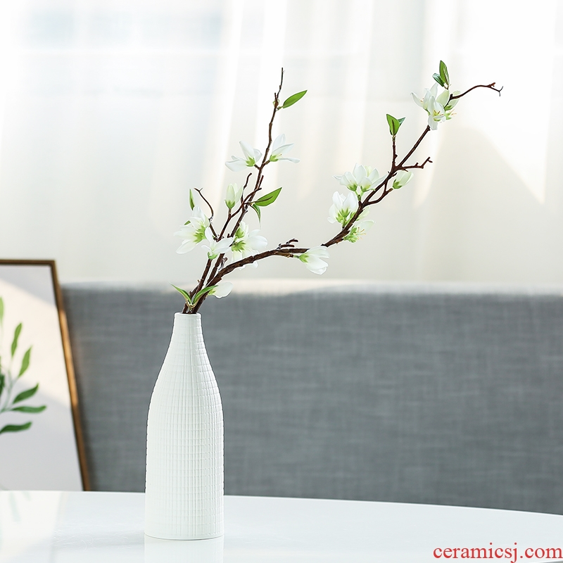 Nan sheng mesa of I and contracted sitting room place adornment simulation flower, dried flower ceramic vase household act the role ofing is tasted