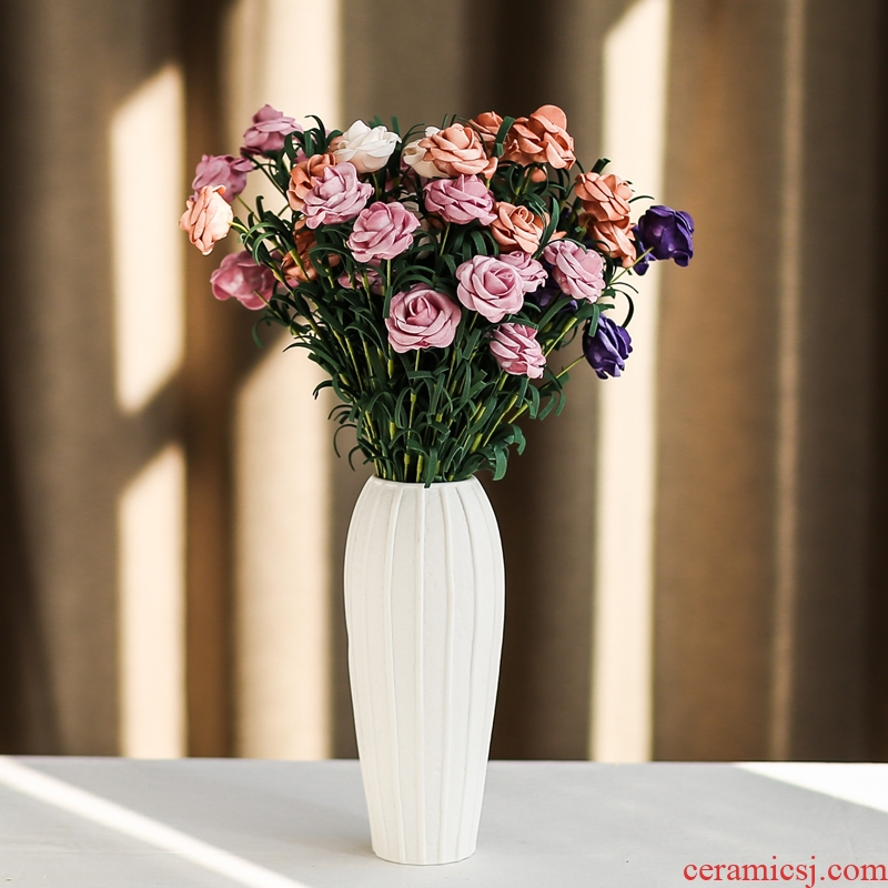 South simulation flowers, dried flowers, artificial flowers, sheng I and contracted household act the role ofing is tasted ceramic vase mesa place flower, flower arrangement