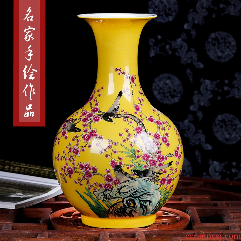 Jingdezhen ceramics hand - made enamel vase flower arrangement sitting room process of new Chinese style household act the role ofing is tasted porch place
