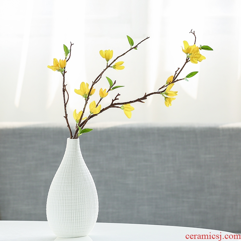 Nan sheng contracted and I ceramic vase simulation flowers, dried flowers, mesa place sitting room adornment household act the role ofing is tasted
