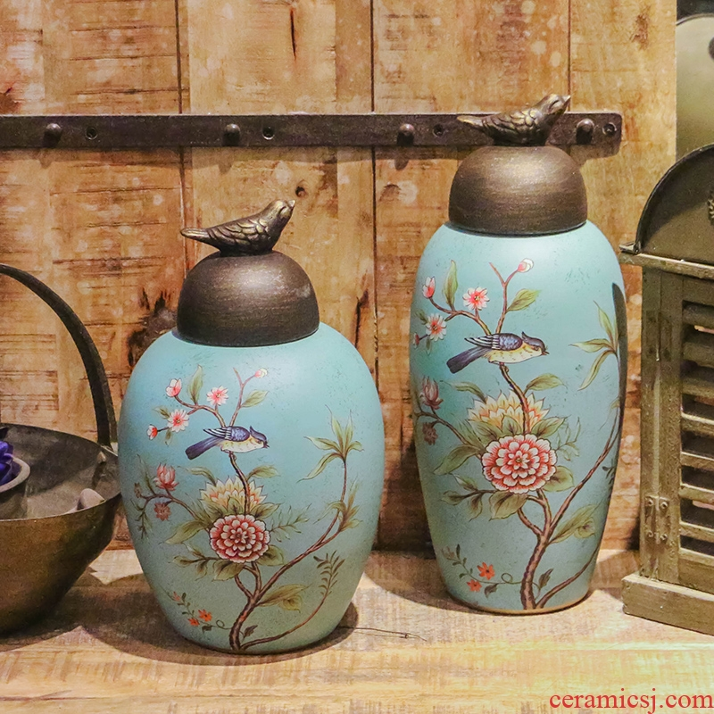 American country with ceramic storage tank wine porch TV ark to restore ancient ways furnishing articles household soft adornment
