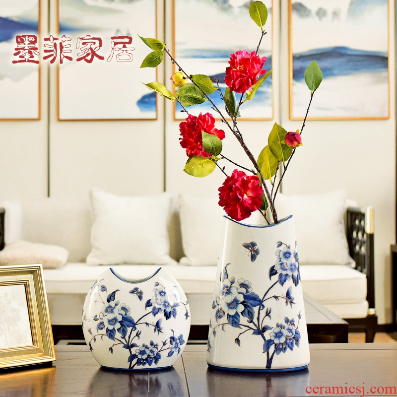 New Chinese style furnishing articles household act the role ofing is tasted classical jingdezhen ceramic vase wine porch TV ark, sitting room adornment
