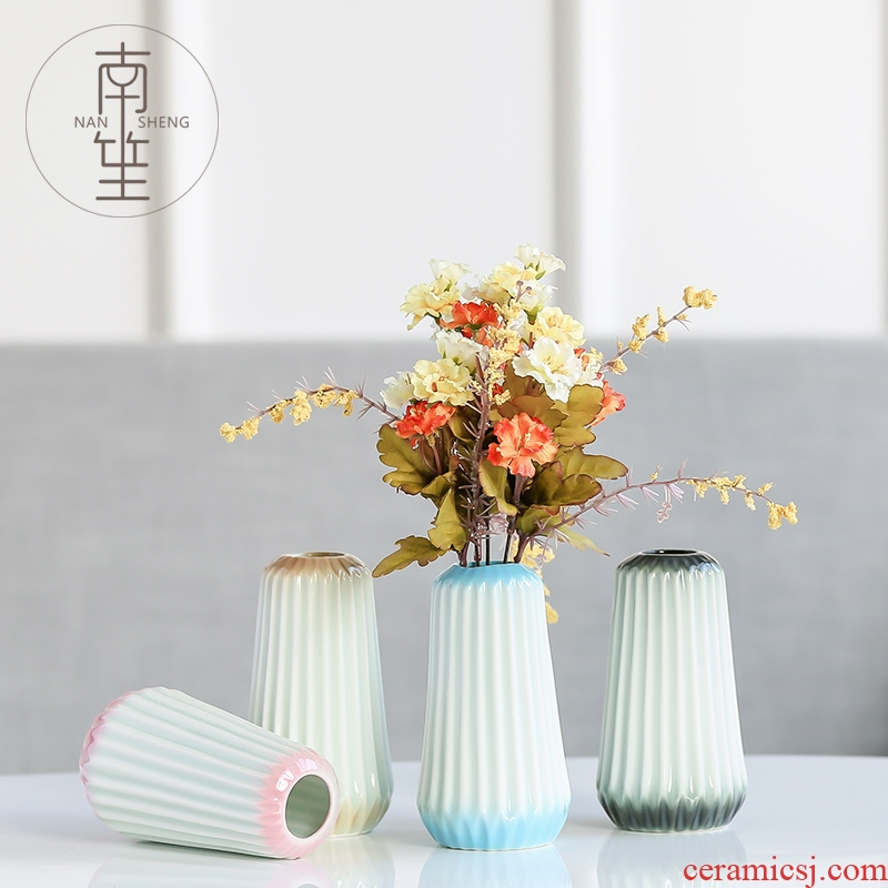 Household act the role ofing is tasted ceramic vase simulation flower, dried flower flower place adornment living room TV cabinet mesa flower arrangement