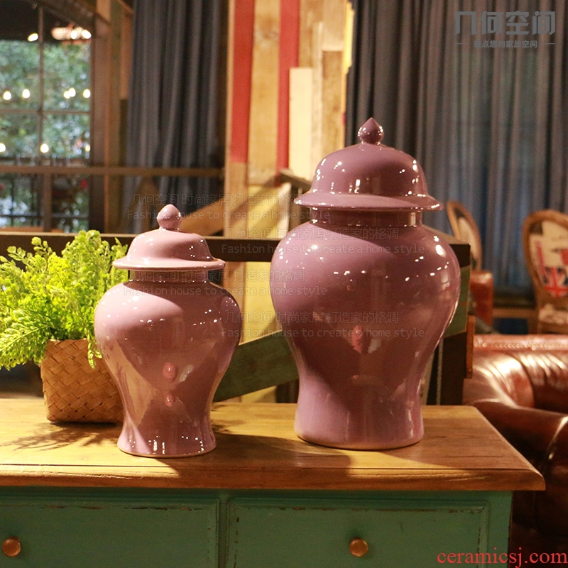 Geometric space general European purple as cans ceramic vase furnishing articles Taiwan MianRuan home decoration decoration