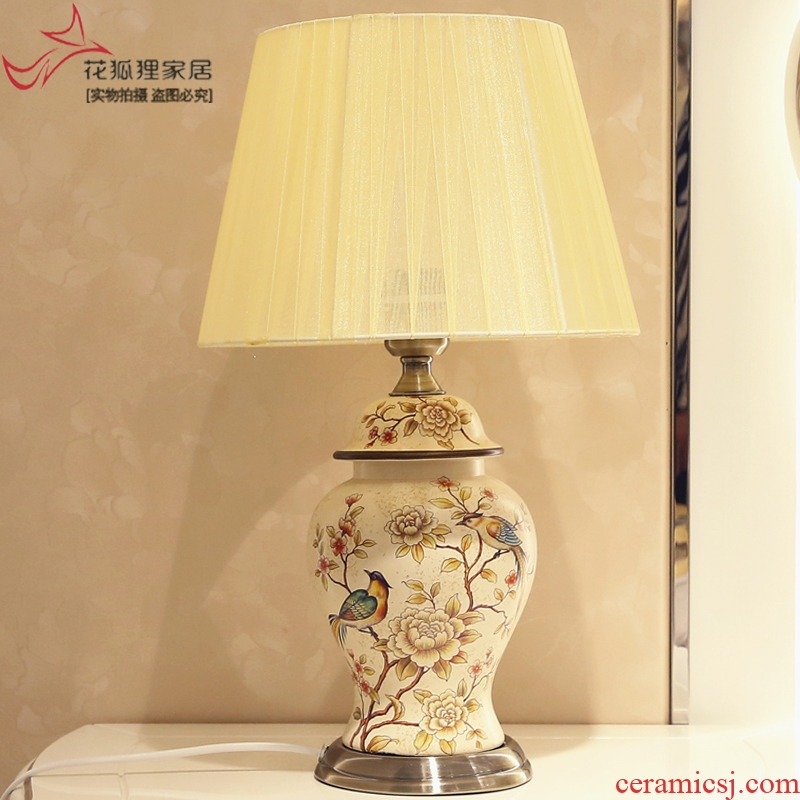 American rural idyll lamp creative Europe type restoring ancient ways the sitting room is the study of bedroom the head of a bed ceramic decoration lamp