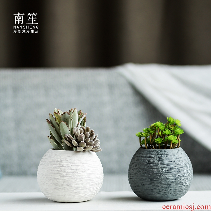 Nan sheng household act the role ofing is tasted I and contracted ceramic vase simulation flower, dried flower flower mesa place flower art flower arranging