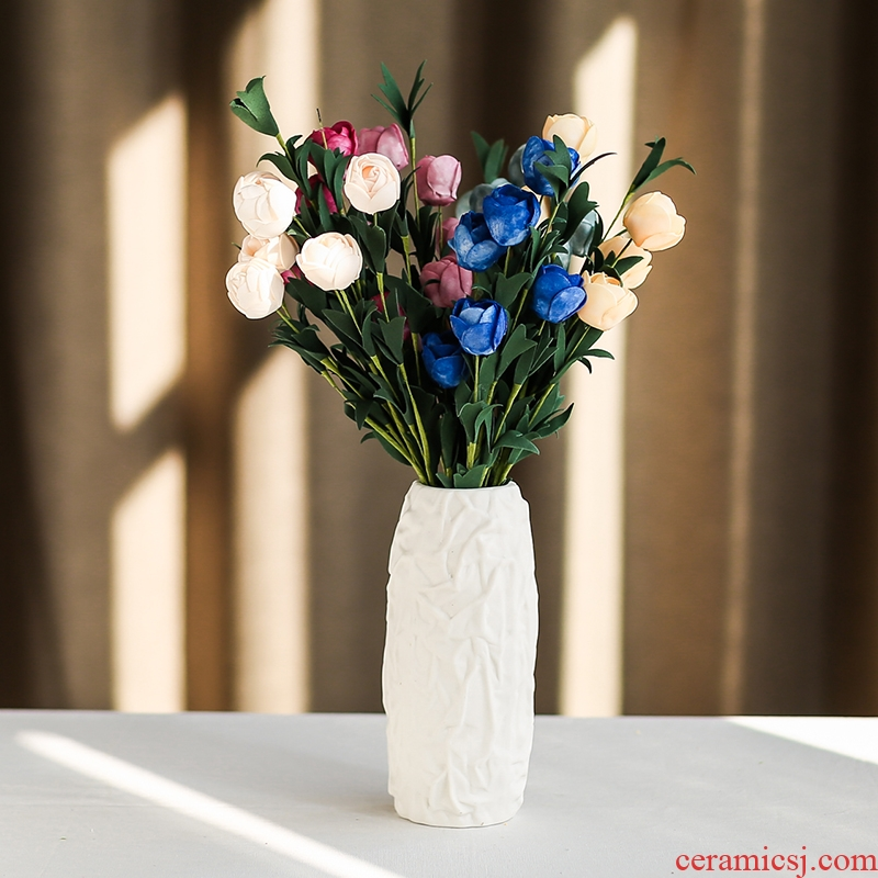 Nan sheng I and contracted a fold series household act the role ofing is tasted ceramic vases, dried flower simulation flowers floral flower implement false