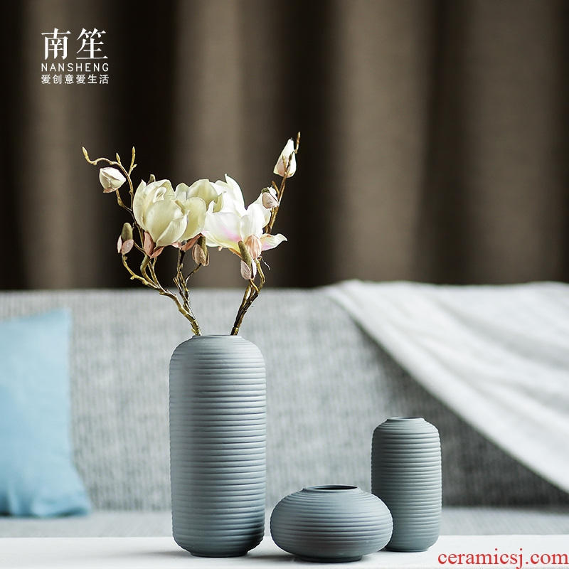 Nan sheng mesa of I and contracted ceramic vase suit household act the role ofing is tasted furnishing articles simulation flower, dried flower, flower, flower arrangement