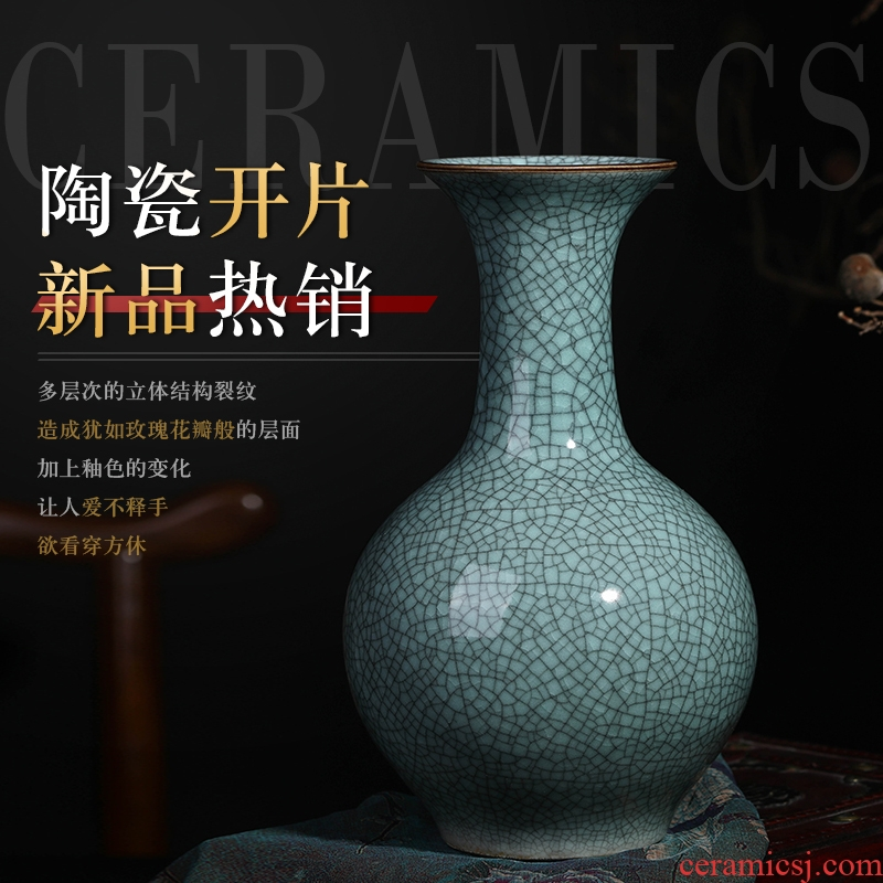 Jingdezhen ceramic vase furnishing articles official kilns flower arranging archaize sitting room open trailers, classic Chinese style household decorations