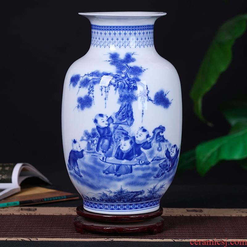 Jingdezhen ceramic vase flower arranging device decorative flower arranging I household handicraft furnishing articles, the sitting room porch furnishing articles