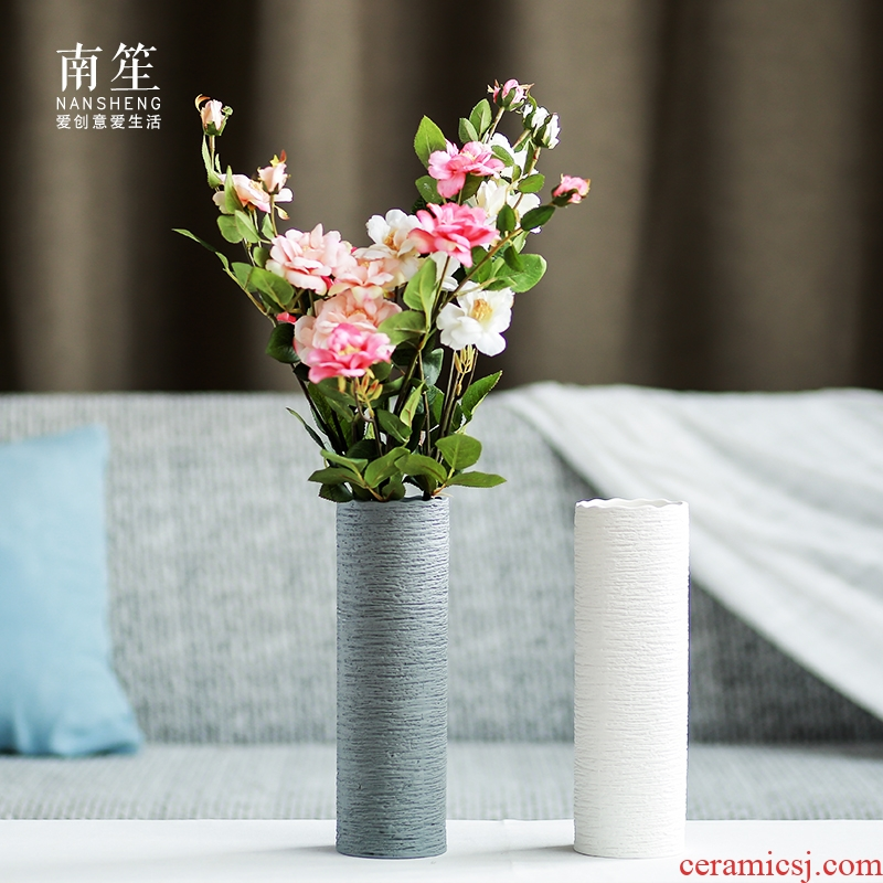 Nan sheng I and contracted household act the role ofing is tasted ceramic vase mesa place simulation flower, dried flower flower flower arranging flower art