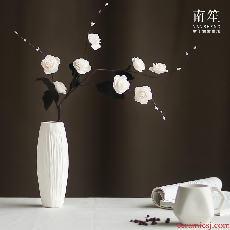Nan sheng I and contracted flower arranging household act the role ofing is tasted ceramic vase simulation flowers, dried flowers, artificial flowers, arts and crafts