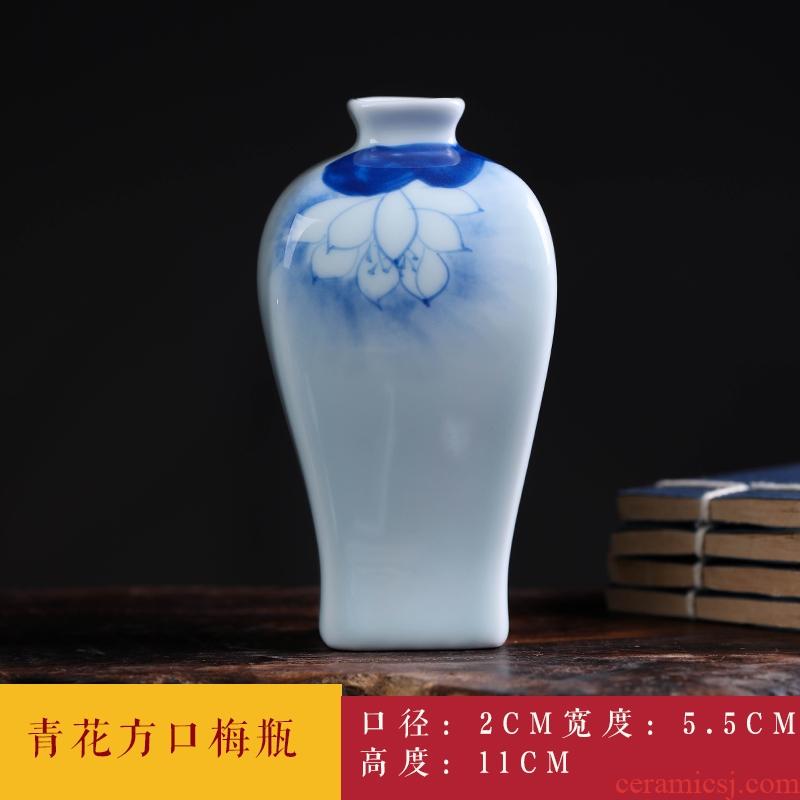 Jingdezhen ceramics floret bottle furnishing articles green glaze flower pet flower adornment handicraft decoration