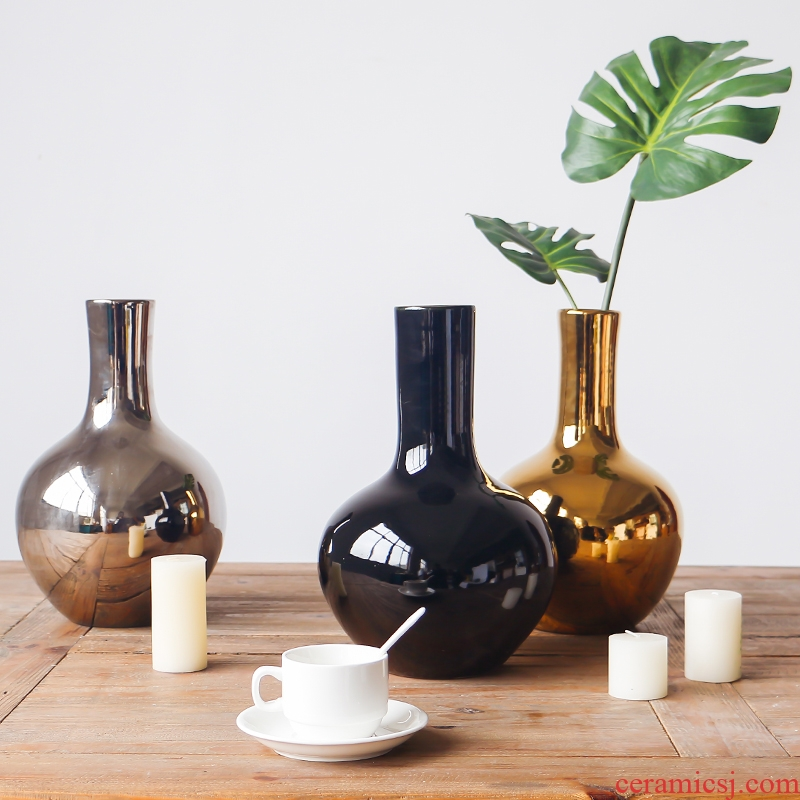 Jingdezhen pure glaze ceramic vases, flower implement flower tree example room decoration household soft outfit furnishing articles