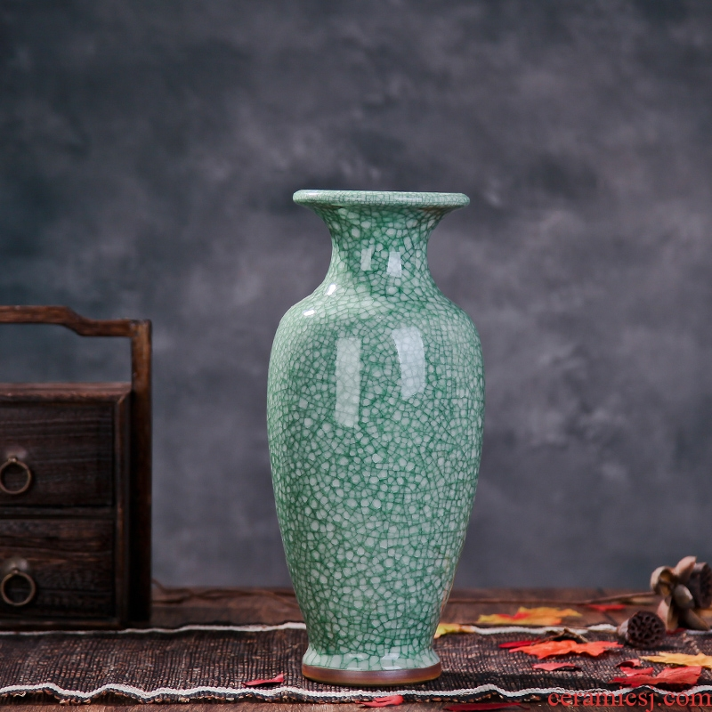 Jingdezhen ceramics in the vase to open the slice archaize of jun porcelain vases, modern home sitting room adornment ornament furnishing articles