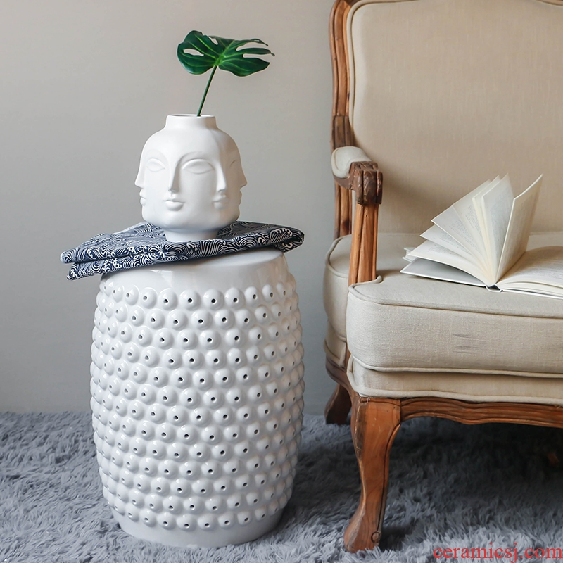 Jingdezhen drum who to I and contracted Europe type soft porous ceramics of new Chinese style household act the role ofing is tasted home furnishing articles
