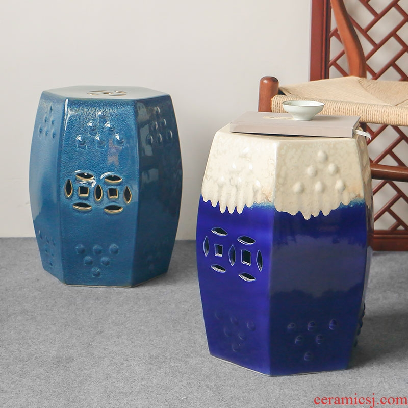 Jingdezhen archaize the six - party up with glazed pottery CiGu who soft outfit of new Chinese style porch in cool shoes who toilet who pier