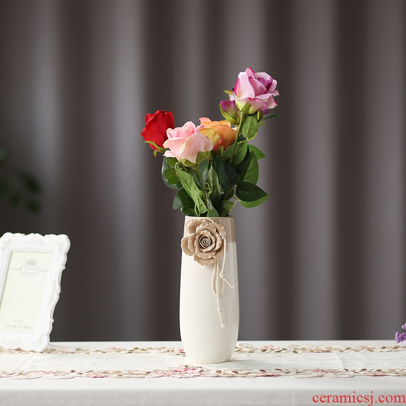 Nan sheng I and contracted hand flowers, dried flowers, false household act the role ofing is tasted ceramic vase simulation flower, flower arrangement