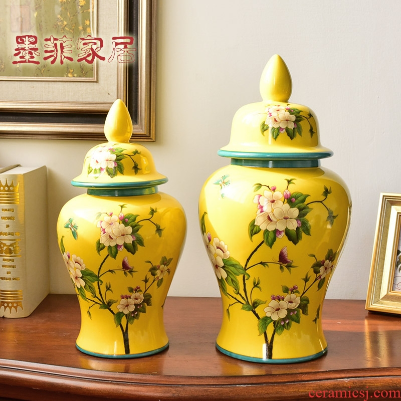 New Chinese style ceramic general furnishing articles can of American home sitting room of TV ark, wine porch household adornment ornament