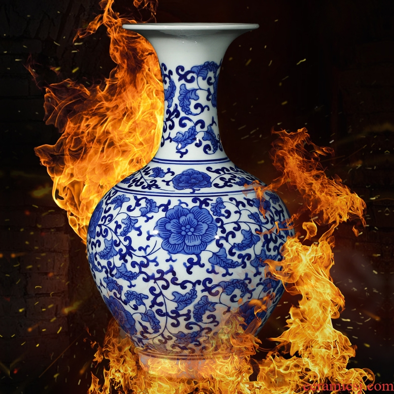 Blue and white porcelain of jingdezhen ceramics vase decoration of new Chinese style household, the sitting room porch decoration decoration furnishing articles
