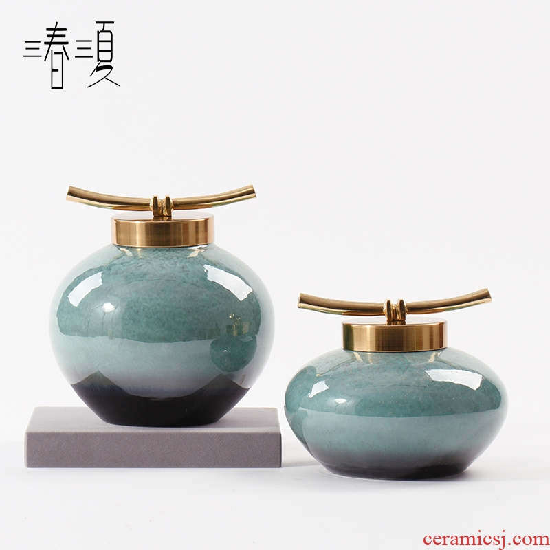 New Chinese style creative ceramic furnishing articles pass reveal ark hotel office study sitting room tea table and what POTS ornaments