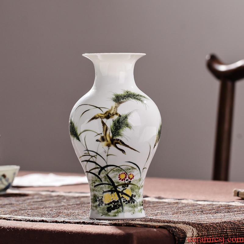 Package mail jingdezhen ceramics floret bottle flower arrangement, household act the role ofing is tasted furnishing articles guest restaurant decorative arts and crafts