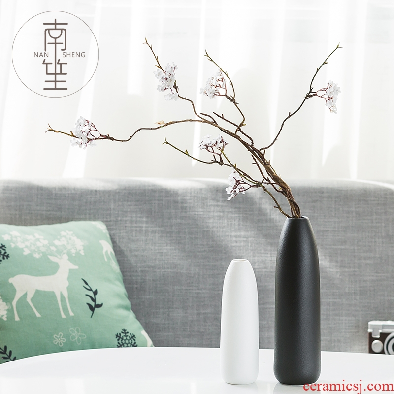 Nan sheng household act the role ofing is tasted furnishing articles ceramic vase of TV bar face sitting room simulation flowers, dried flowers, artificial flowers adornment
