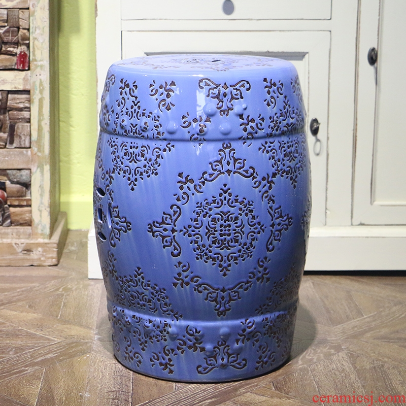 Modern Chinese style manual carve patterns or designs on woodwork dressing who in shoes who ceramic drum who, graceful and restrained jiangnan hand draw large furnishing articles