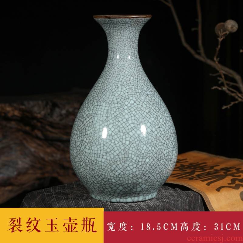 Jingdezhen ceramics vase furnishing articles flower arranging archaize sitting room up flower implement classical Chinese style household decorations