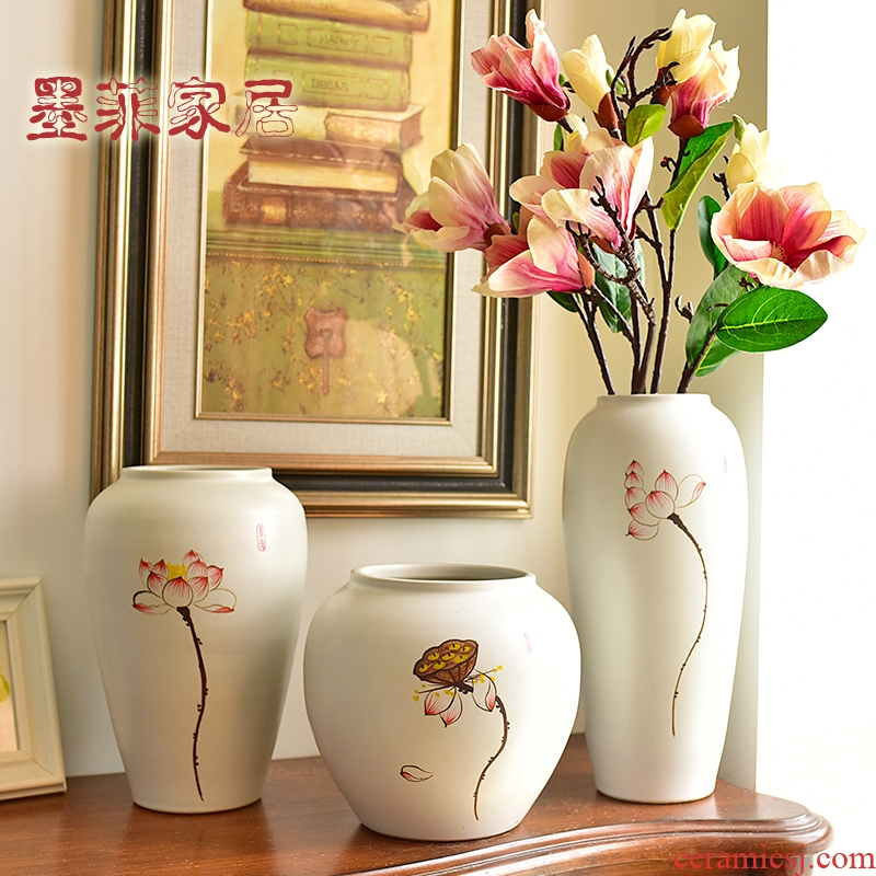 Jingdezhen modern new Chinese style ceramic vases, flower arranging TV ark, wine furnishing articles, the sitting room porch decoration decoration
