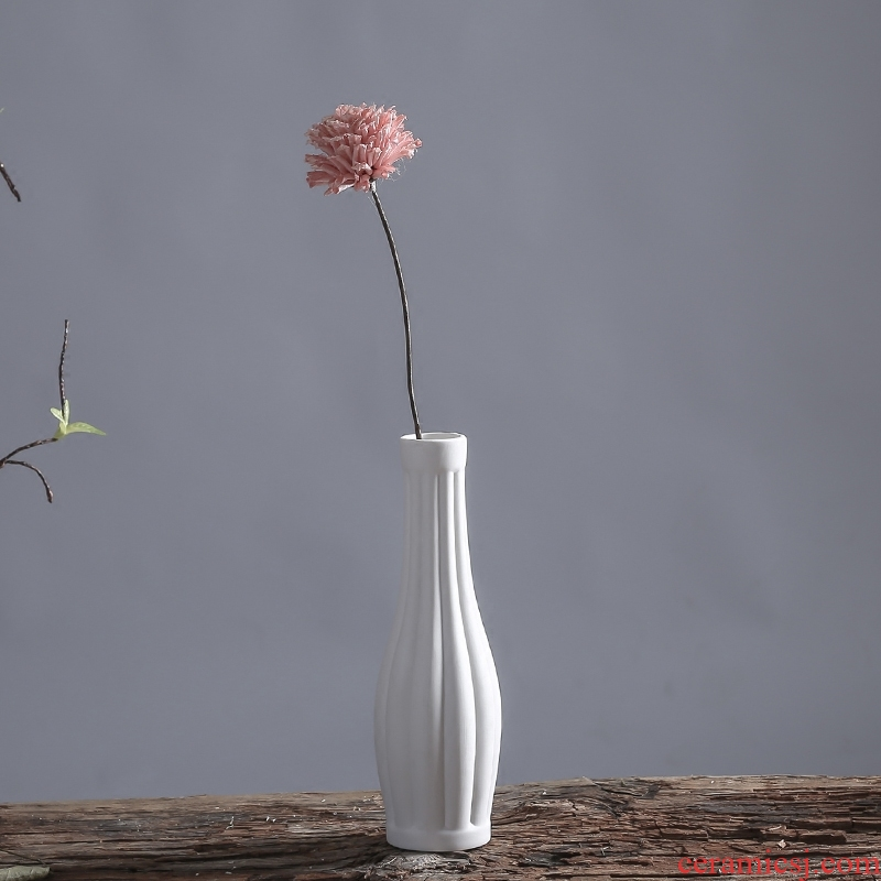 South sheng furnishing articles all over the sky star, dry flower simulation flower ceramic vase household act the role ofing is tasted mesa white flower arranging flowers