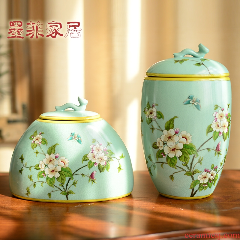 American hand - made ceramic furnishing articles of the new Chinese style living room wine porch rich ancient frame household soft adornment handicraft decoration