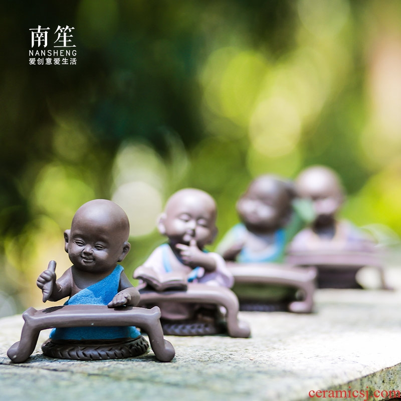Nan sheng household act the role ofing is tasted the little novice monk furnishing articles sitting room is furnished room decoration ceramics handicraft opening gifts