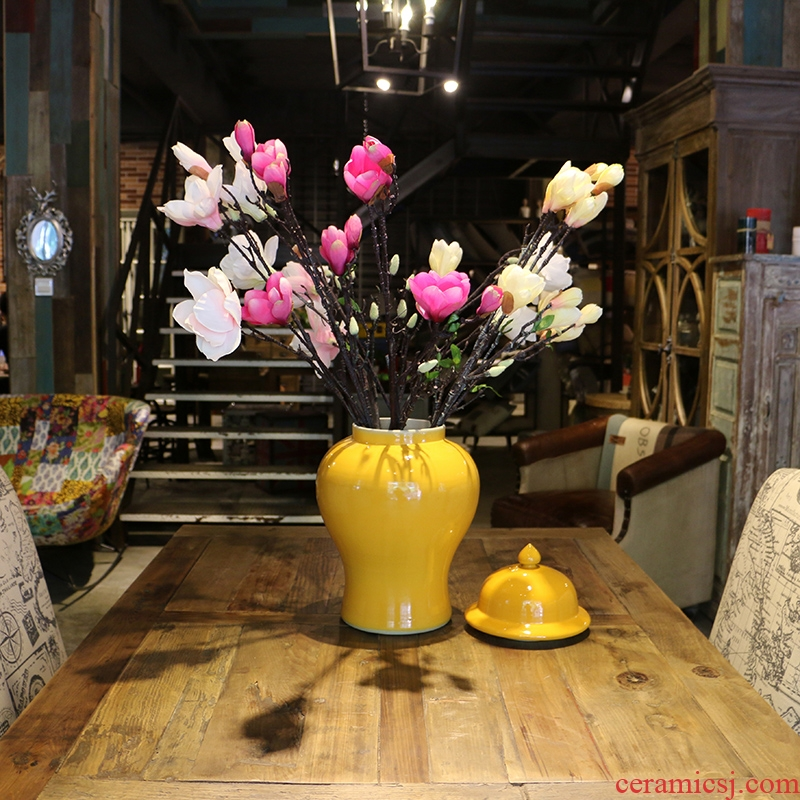 Jingdezhen general manual single deep yellow glazed pot contracted and I ceramics home furnishing articles household act the role ofing is tasted