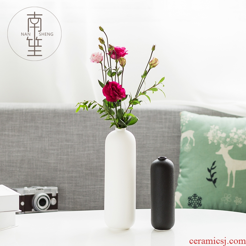 Nan sheng household act the role ofing is tasted simulation flower ceramic vase desktop furnishing articles TV ark adornment I and contracted sitting room