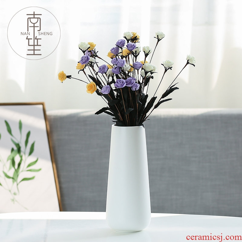 Nan sheng I and contracted ceramic vase simulation flowers sitting room mesa place, household act the role ofing is tasted crafts decorations