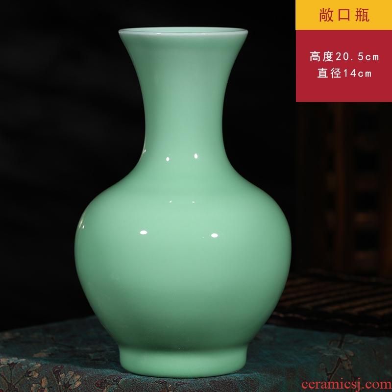 Jingdezhen ceramics furnishing articles of modern new Chinese style living room home decoration handicraft zen flower arranging antique vase