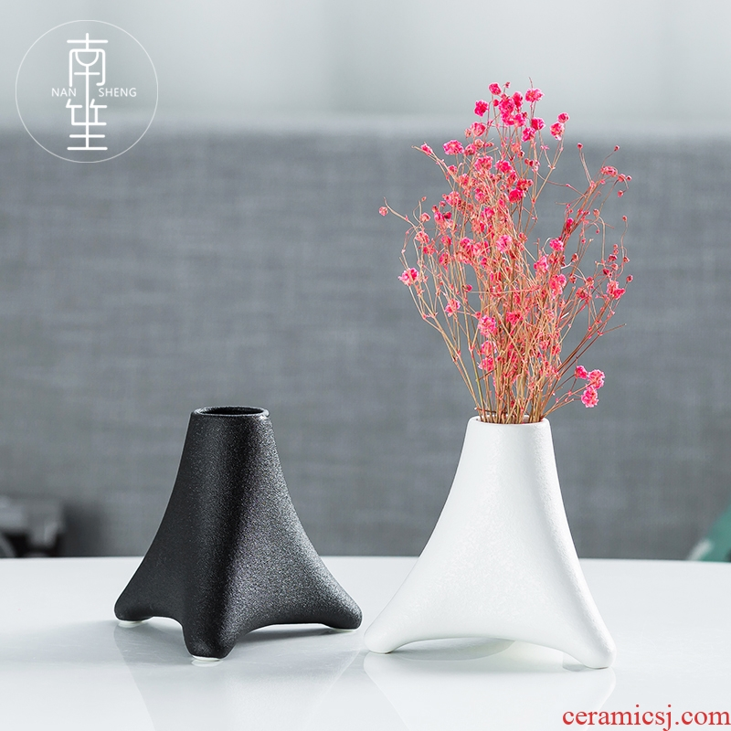 Nan sheng household act the role ofing is tasted I and contracted ceramic vase simulation flowers, dried flowers sitting room adornment TV ark, furnishing articles