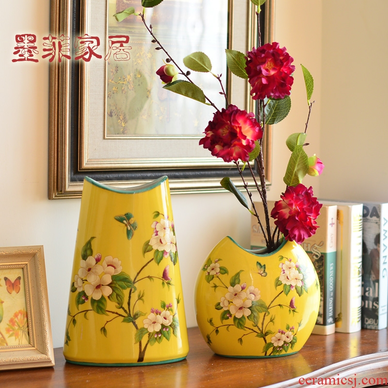 New Chinese style ceramic vase furnishing articles American living room TV cabinet example room wine home decoration decoration arranging flowers
