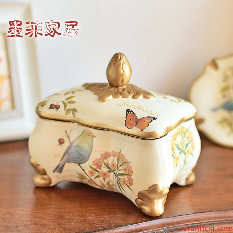 American ceramic furnishing articles Europe type restoring ancient ways jewelry box storage tank sitting room ark, TV ark, decoration home decoration