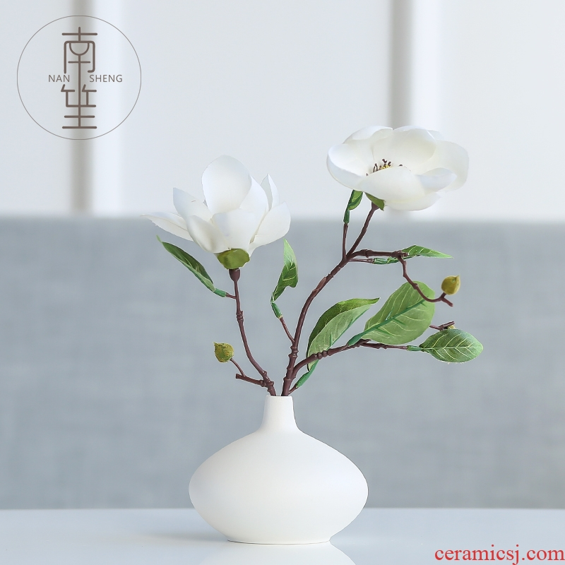 Nan sheng household act the role ofing is tasted ceramic vases, dried flower simulation flowers hydroponics furnishing articles I and contracted sitting room adornment