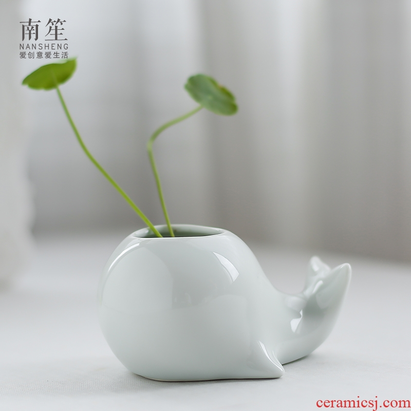 Nan sheng small pure and fresh and contracted hydroponic furnishing articles table ceramic floret bottle of dried flowers flower arrangement creative living room decoration